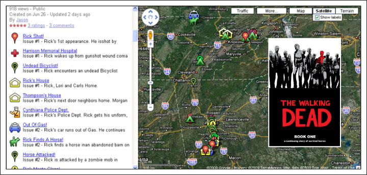 When the Dead Walk, They Prefer to Use Google Maps | Robot Dead Google Maps on