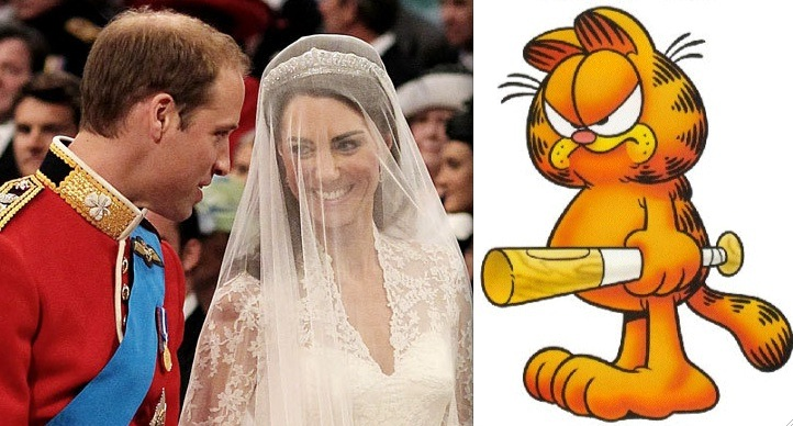 Fan Fiction Friday Prince William Kate Middleton And Garfield In Royal Rescue Topless Robot