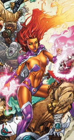 Starfire big naked boobs and naked