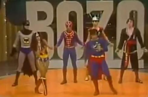 All the Superheroes Sing on 1980 Brazilian Bozo the Clown TV