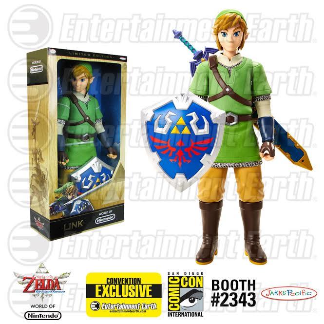 """EXCLUSIVE COMIC-CON REVEAL: Legend of Zelda 20"""" Skyward Sword Link Variant Figure"""