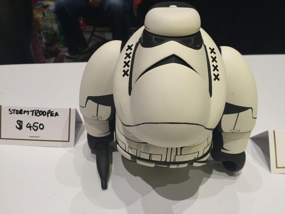 Jon-Paul Kaiser was a fan of Star Wars. Now, he can turn blank toys into familiar Star Wars characters. (Photo: Liz Ohanesian)