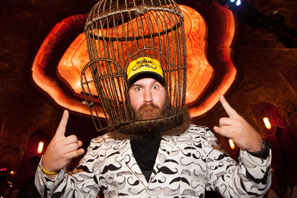 beardcage  sc 1 st  The Robot\u0027s Voice & This Competitive Beard-Grower Wove His Into a Cage on His Head ...