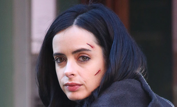 "NEW YORK, NY - MARCH 24: Krysten Ritter seen filming "" Aka Jessica Jones "" on March 24 , 2015 in New York City. (Photo by Charles Bladen/GC Images)"