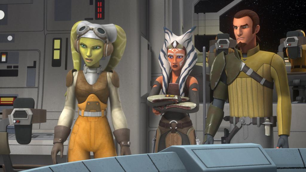 Hera, Ahsoka Tano and Kanan in Star Wars Rebels