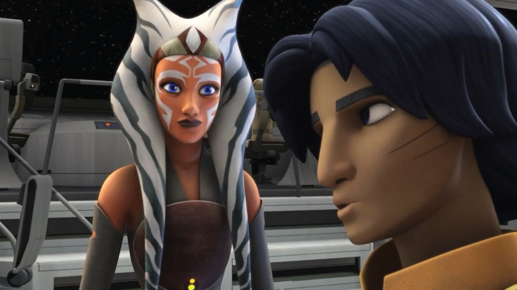 Ahsoka Tano and Ezra in Star Wars Rebels