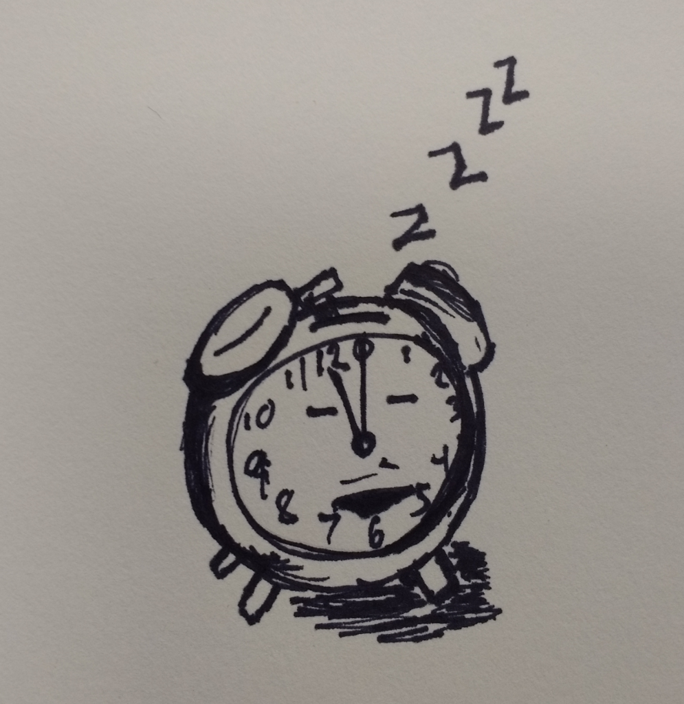 inktober2018 day14 clock one more hourSML